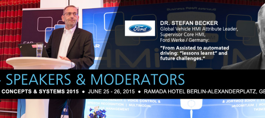 CAR HMi concepts & systems 2015: Shaping future interaction with the car